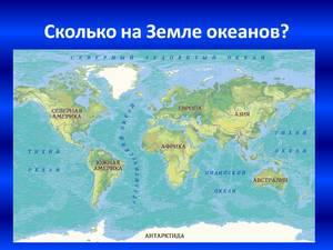 Какие на планете океаны