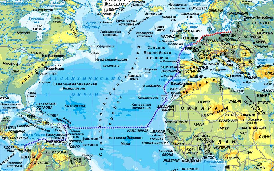 соленость атлантического океана