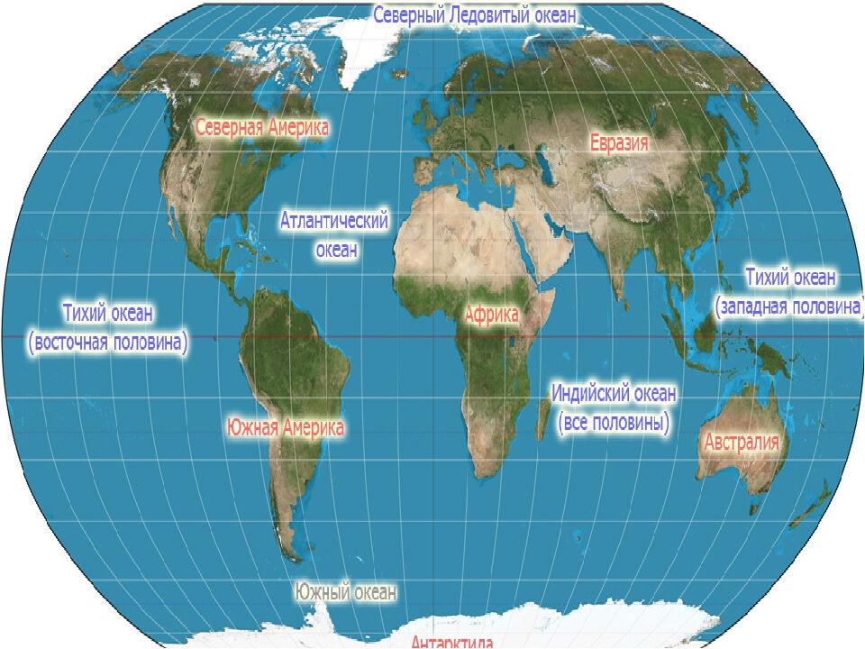 карта мировых океанов (главный ключ)