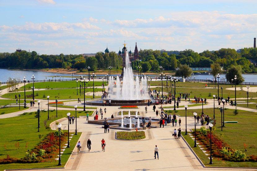 Волжская набережная в Ярославле: описание, фото