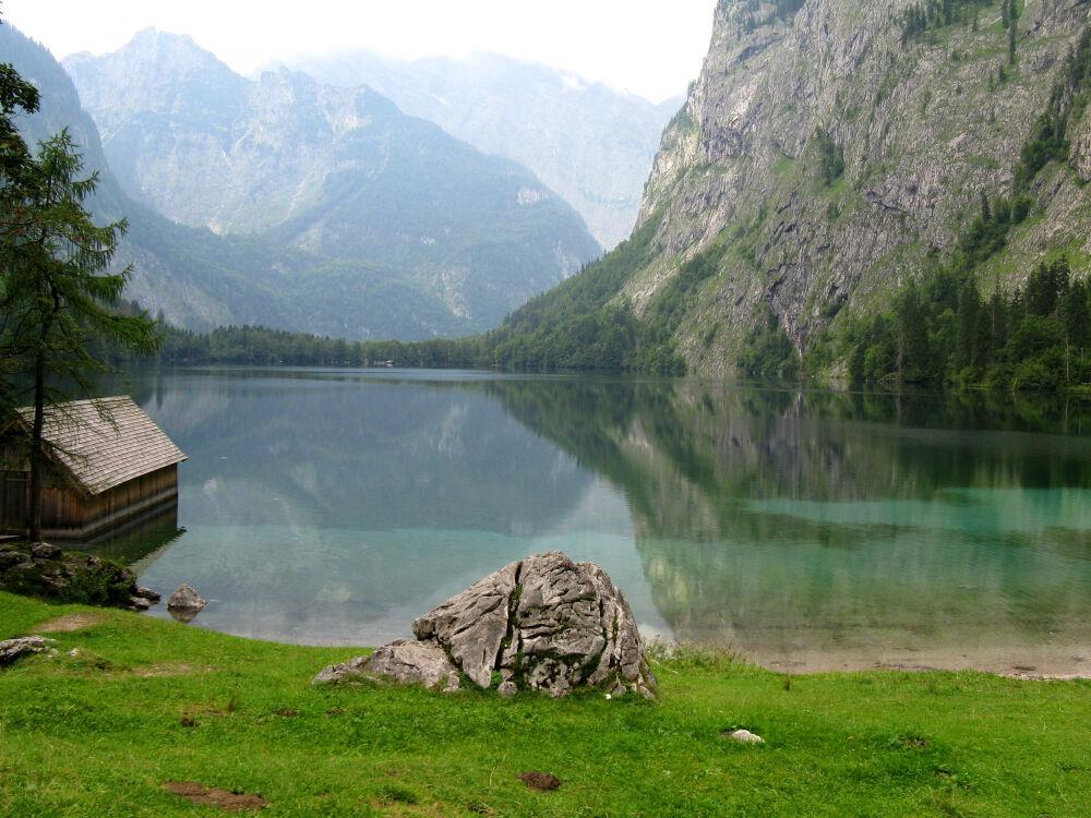 Маленькое озеро (Германия, Schonau-am-konigssee) - автор фото Марина ...