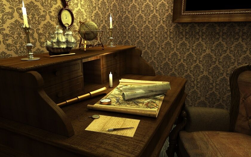 Картинки карта, кабинет, стол, часы, фрегат, корабль, компас, ручка ...