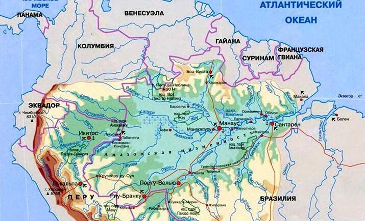 Амазонка (река) — Южная Америка — Планета Земля
