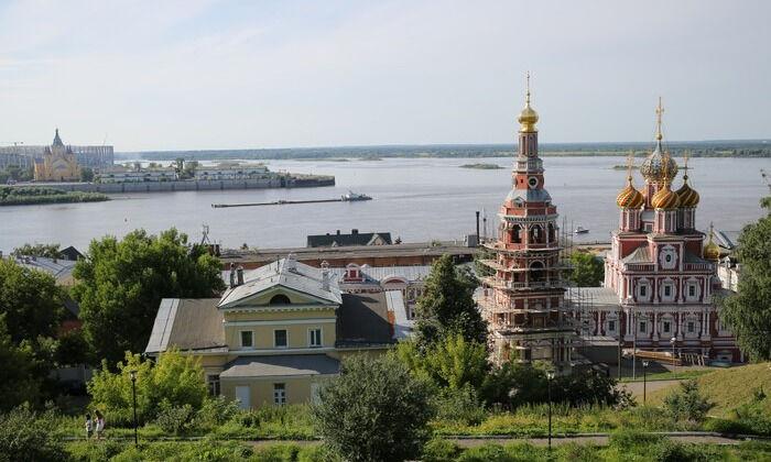 Стрелка Нижнем Новгороде — место, где сливается Волга и Ока. Как .