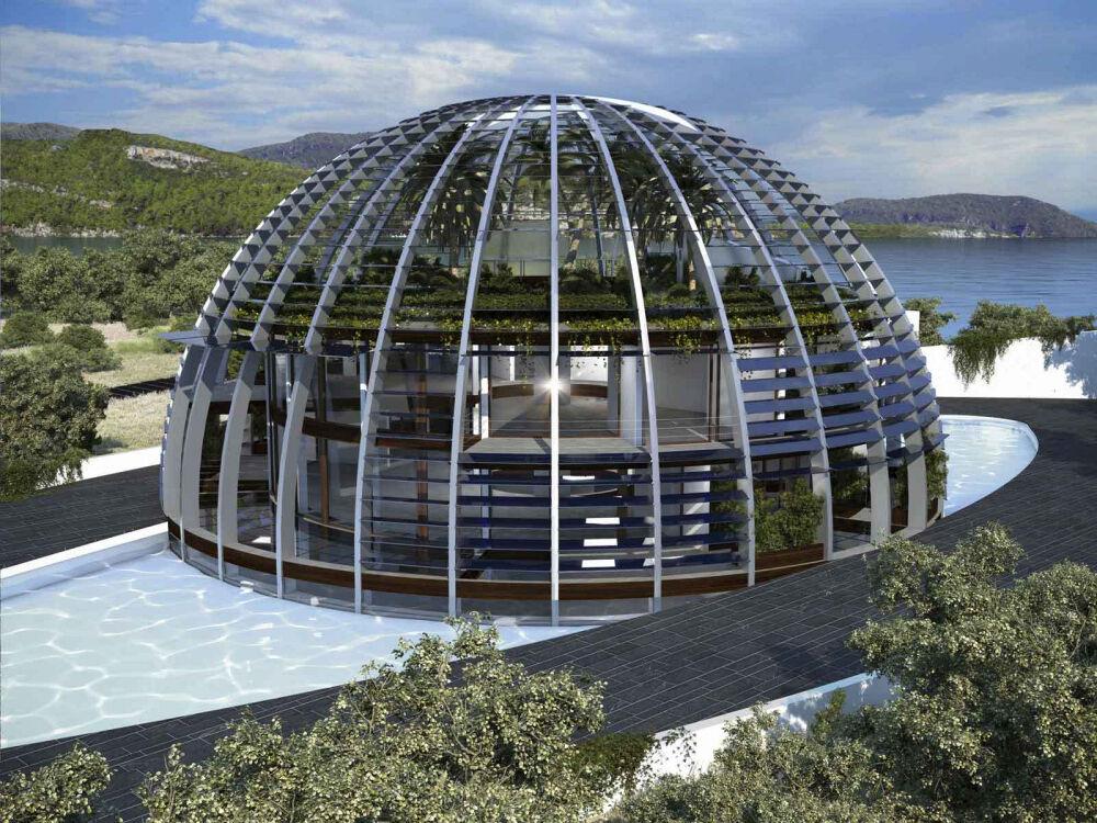 Эко-дом в виде Глаза Гора