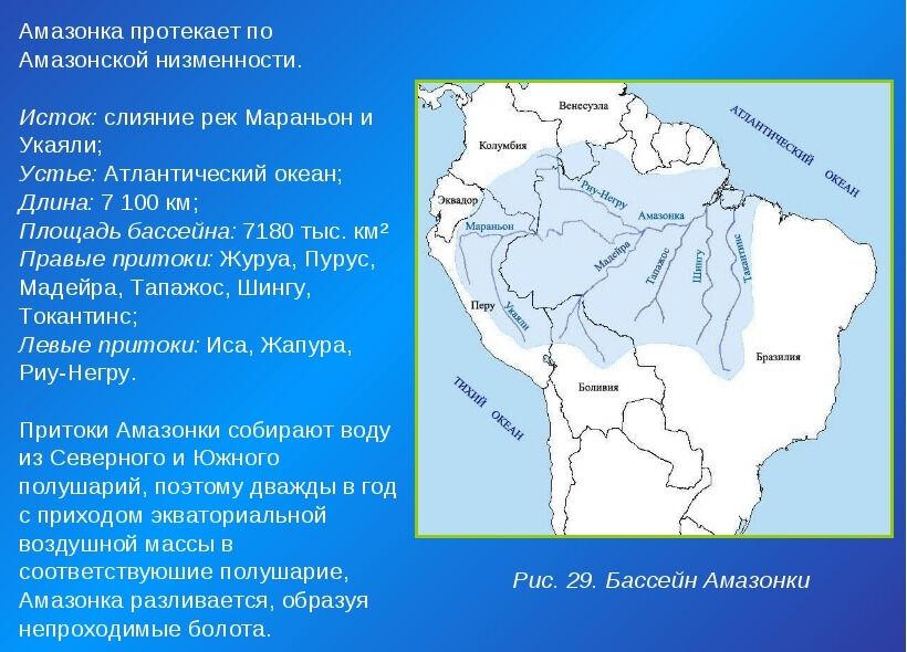 Электронный учебник по географии по разделу Южная Америка