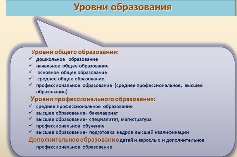 Презентация на тему: Система образования в федеральном законе «Об ...