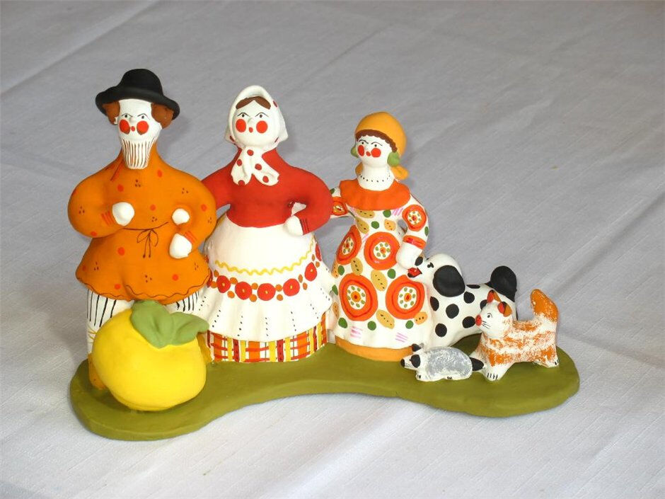 дымковская игрушка руками
