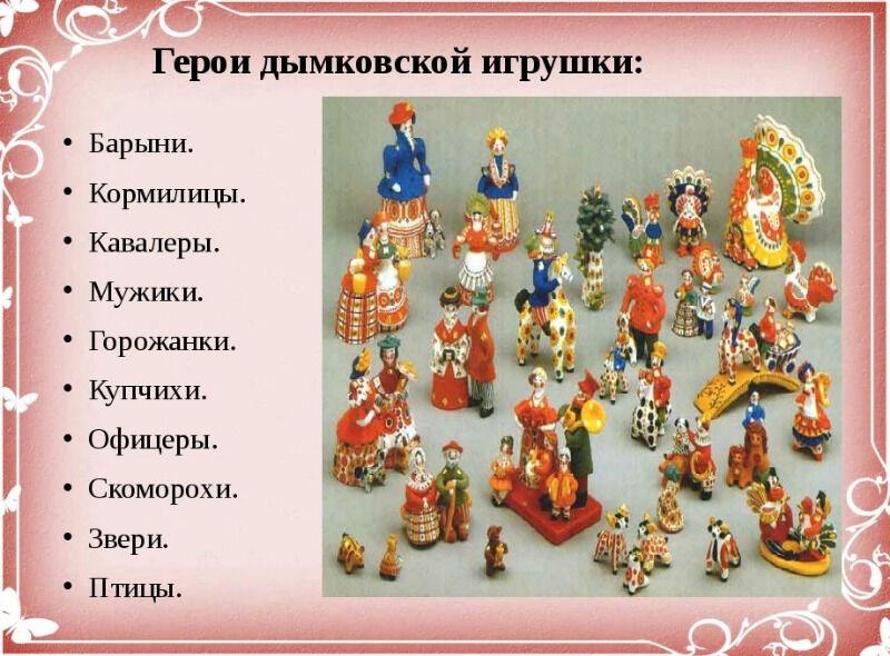 Герои дымковской игрушки