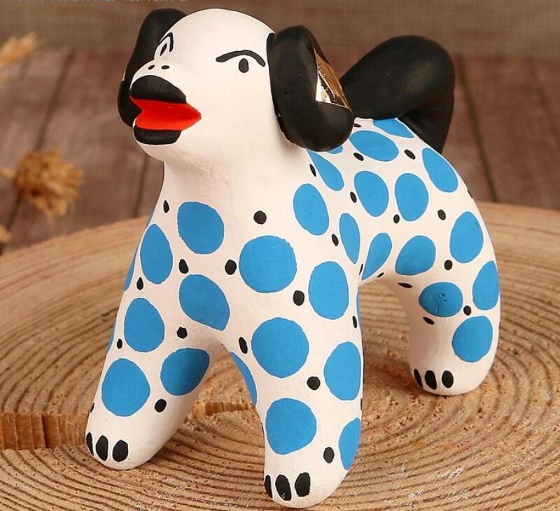Дымковская игрушка Собака