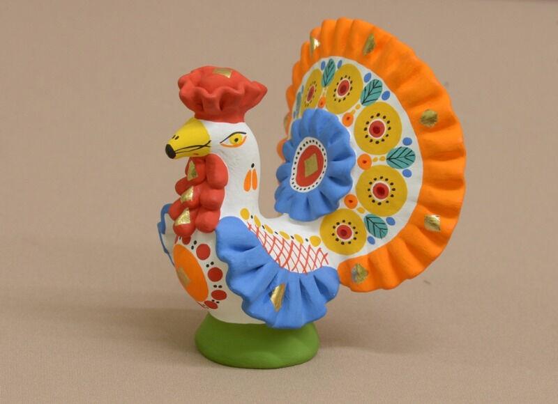 Дымковская игрушка «Индюк»