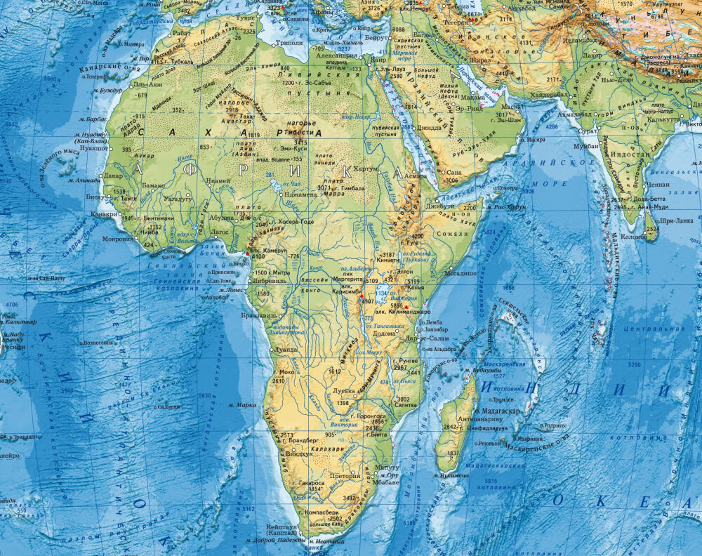капские горы на карте