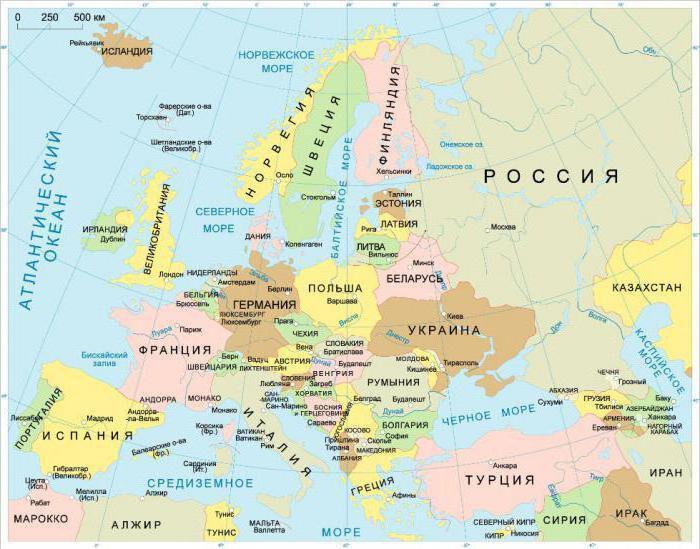 восточная европа страны список