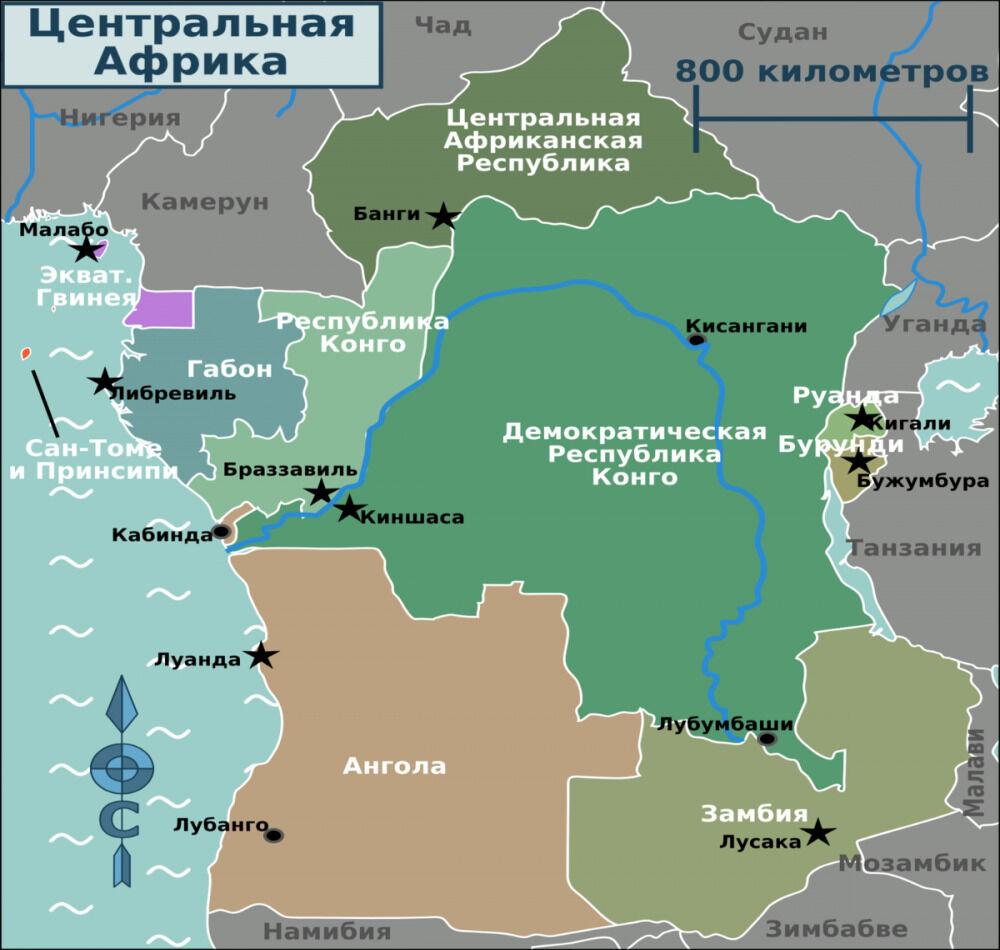 географическое положение саванны