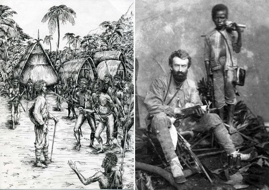 Прапраправнук Миклухо-Маклая побывал в гостях у племени папуасов ...