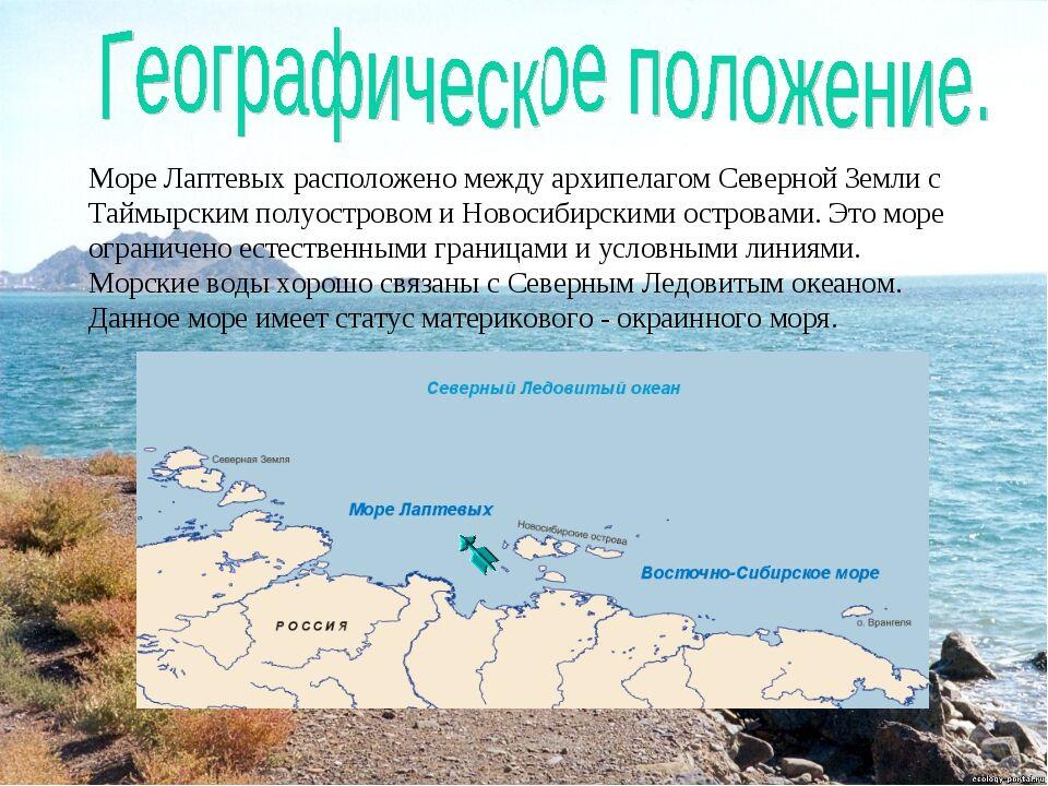 Презентация к уроку географии по теме Моря России