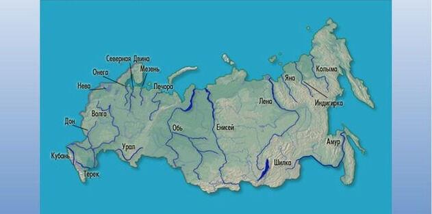 Презентация урока по географии на тему Реки России (8 класс)