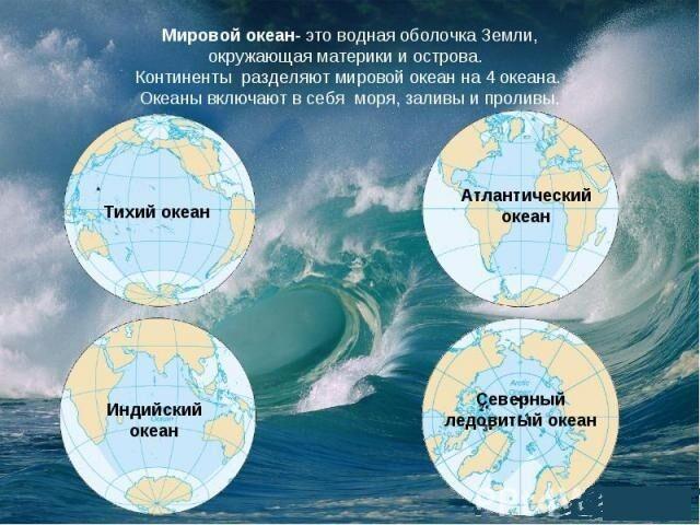 Какой процент % площади занимает Мировой океан?