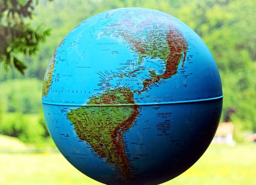 Бесплатное изображение: Глобус, Северная, Южная Америка