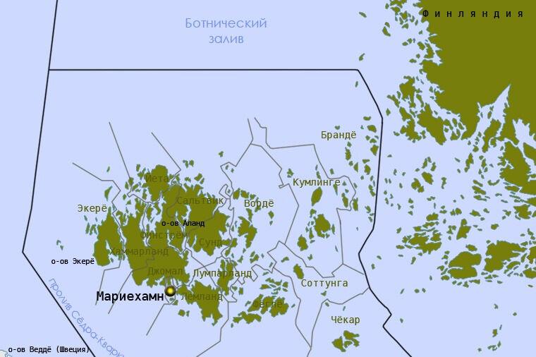 Аландские острова на карте | Инфокарт – все карты сети