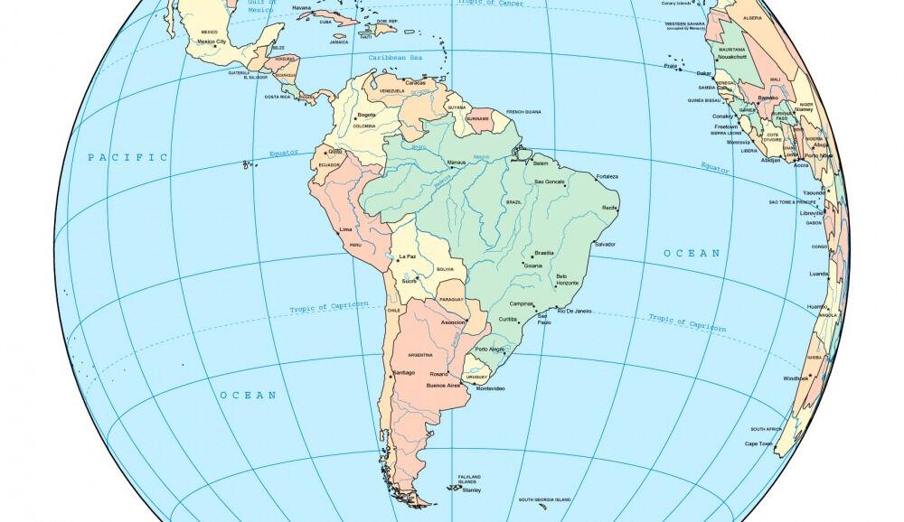 Географическое положение Южной Америки. Видеоурок. География 7 Класс