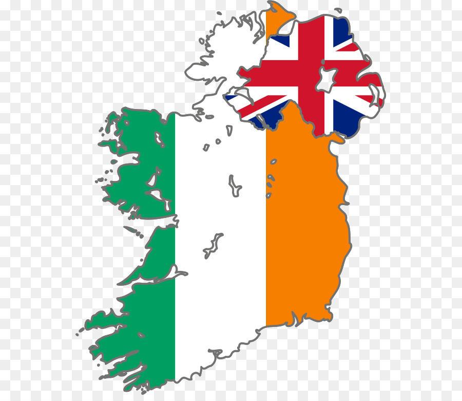 Северной Ирландии флаг Ирландии на карте - Ирландия png скачать ...