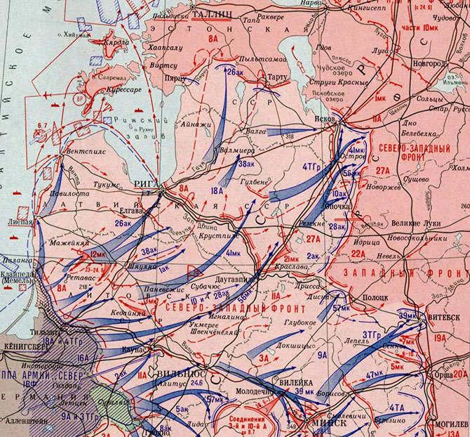 Прибалтийская военная операция июнь-июль 1941