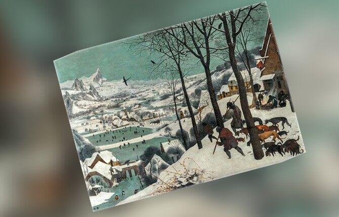 """""""Охотники на снегу. Зима."""""""