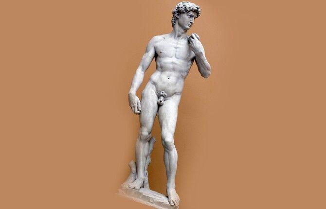 Статуя Давида работы Микеланджело Буонарроти