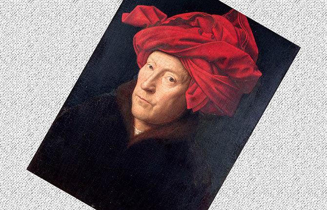Портрет мужчины в красном тюрбане