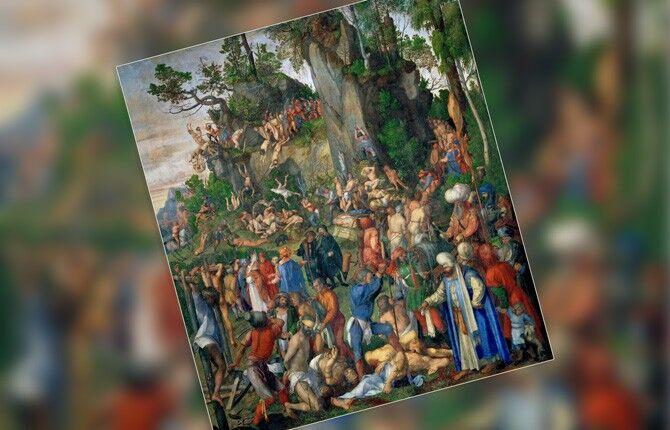 Дюрер Мученичество десяти тысяч христиан