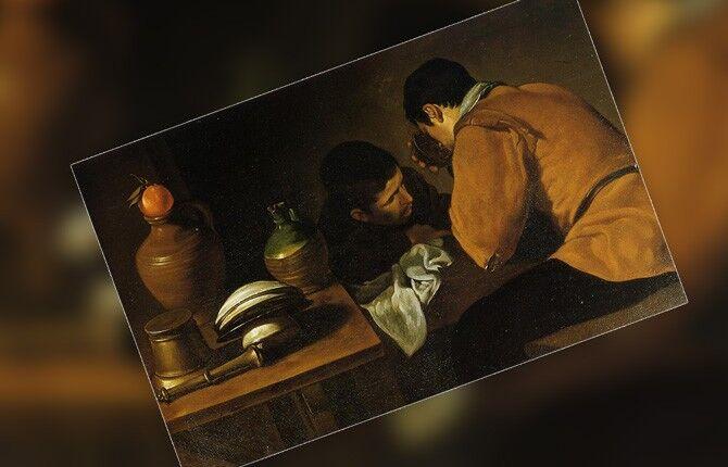 Веласкес Двое юношей у стола