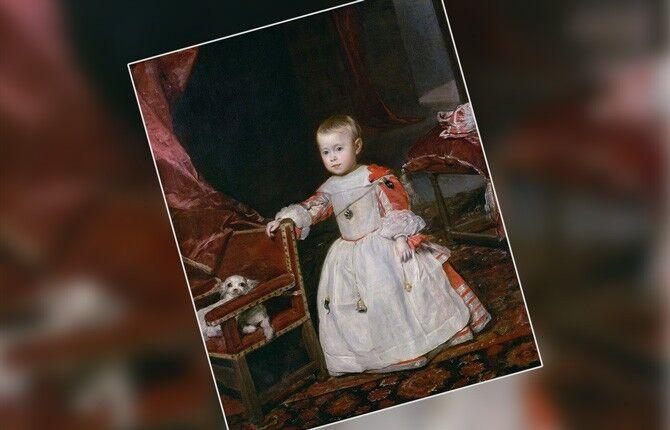Портрет инфанты Маргариты в белом платье