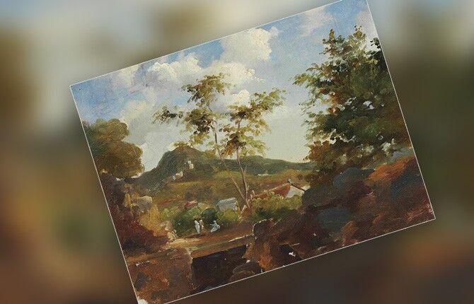 Деревня у подножия холма в Сент-Томас, Антильские острова. 1854-1855 гг.