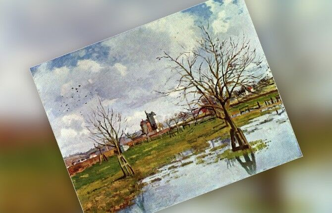 Писсарро Наводнение в Сент-Уан-л'Омон. 1873 г.