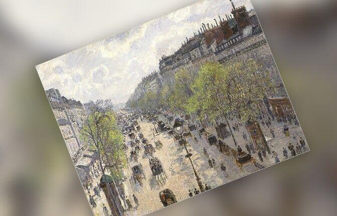 Бульвар Монмартр, весеннее утро. 1897 г.