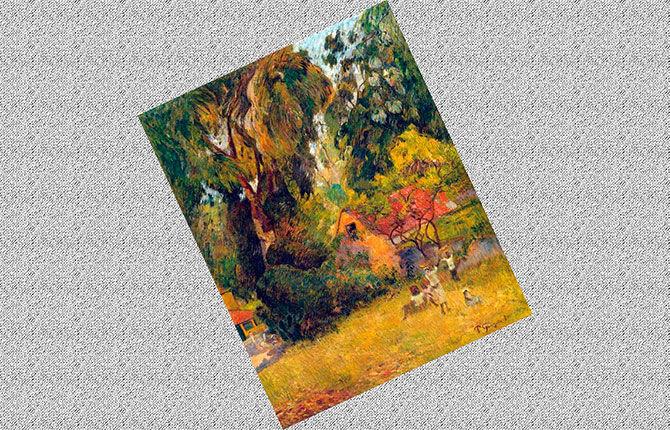 Поль Гоген Хижина под деревьями