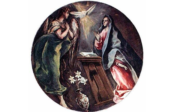 Картина эль Греко Благовещение