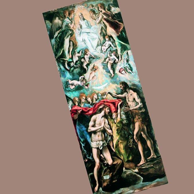 Эль Греко Крещение Христа