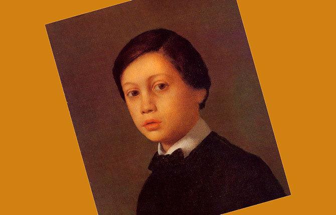 Портрет Рене Дега. Брат художника. 1855 г.