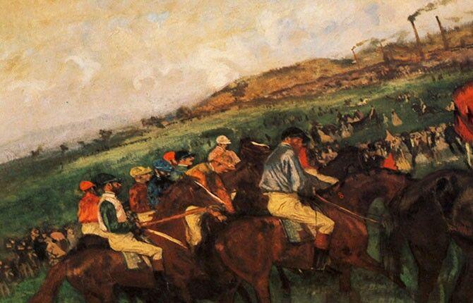 «Жокеи перед стартом» 1862 г.