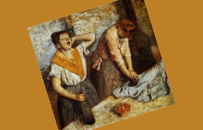Дега «Гладильщицы» 1884 г.