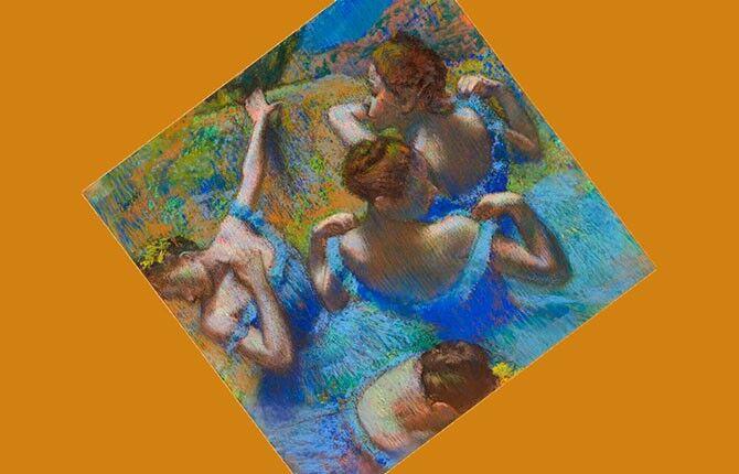 Дега «Голубые танцовщицы» 1899 г.
