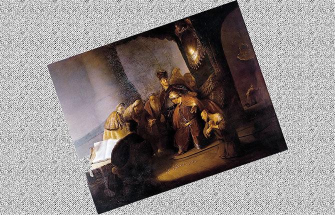Рембрандт «Иуда возвращает тридцать сребренников» 1629 г.