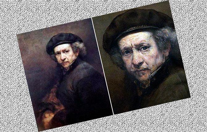 Рембрандт «Автопортрет» 1655 г.