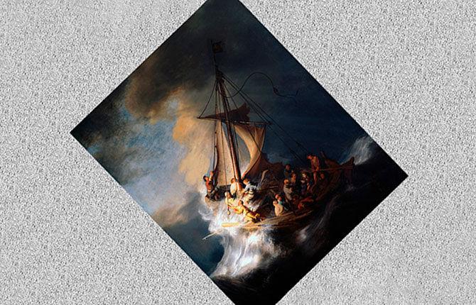 «Христос во время шторма на море Галилейском» (1633 г.)