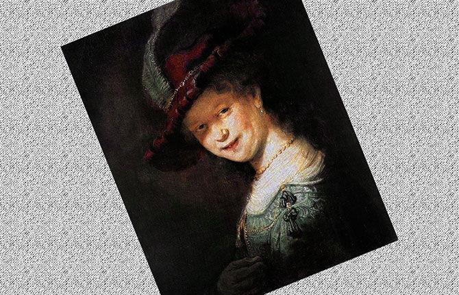 Портрет Саскии в красной шляпе» (1633-1642 гг., Кассель)