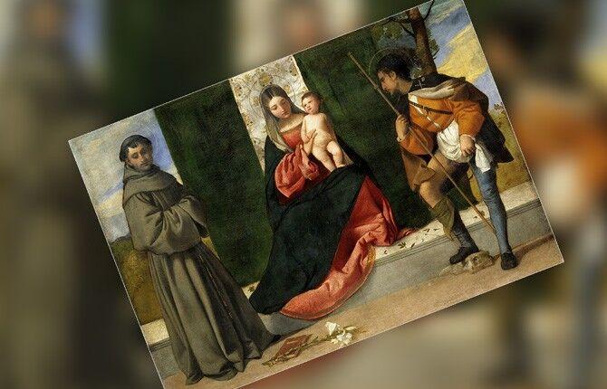 Мадонна с младенцем и св. Антонием Падуанским и Роком