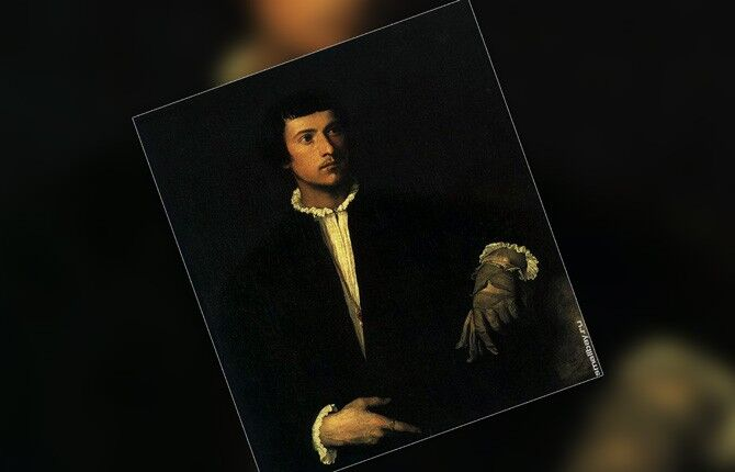 Мужчина с перчаткой