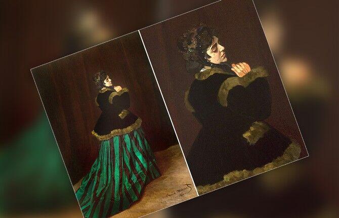 Клод Моне Дама в зеленом платье
